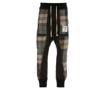 Harris Tweed Patchwork Pants Black