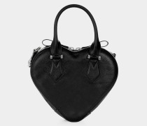 Johanna Heart Handbag Black