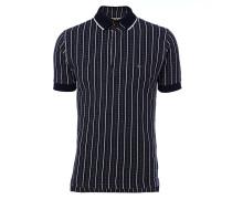 Overlock Polo Shirt Jacquard Navy/Cream
