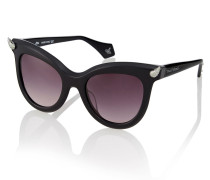 Black Diamante Horn Sunglasses VW871S-1SBL