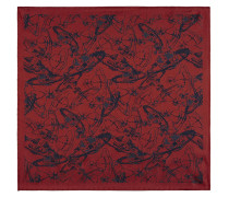 Sketch Orb Jacquard Pocket Square Red