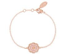 Fiorella Bracelet Pink Gold Plated/Pink Enamel