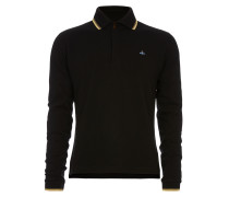 Long Sleeved Polo Shirt Black