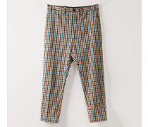 James Bond Cropped Trousers Multicolour Peasant Check