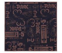 Artwork Jacquard Pocket Square Dark Blue/Pink