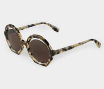 Crescent-Cut Sunglasses Tortoiseshell