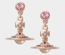 New Petite Orb Earrings Pink Gold