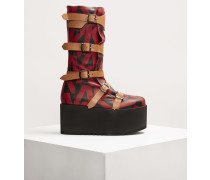 Pirate Boots Platform Red/Black