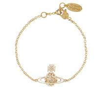 Azalea Bas Relief Bracelet Gold Plated