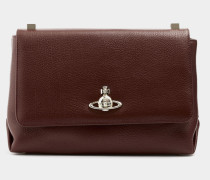 Balmoral Large Bag With Flap Burgundy