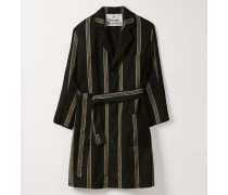 Worker Coat Black Natural Stripes