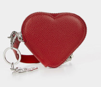 Johanna Heart Coin Purse With Orb Gadget 51070018 Red