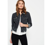 Girlfriend Denim Jacke grau
