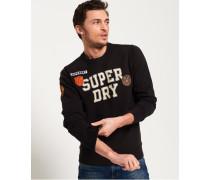 Upstate Rundhals-Sweatshirt mit Waschung schwarz