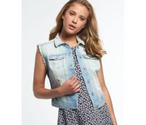 Jaclyn Jeansweste blau