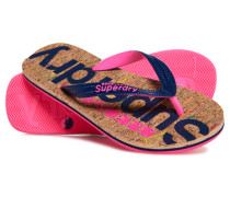 Kork-Flipflops pink