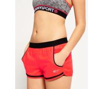 Sport Shorts mit Netzeinsatz pink
