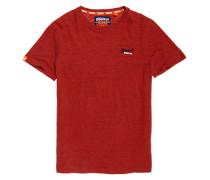 Orange Label Vintage T-Shirt mit Stickerei orange