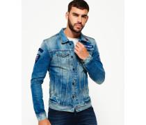 Rogue Patch Trucker Jeansjacke blau