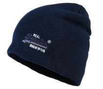 Basic Tonal Embroidery Beanie marineblau