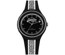 Retro Sport Armbanduhr schwarz