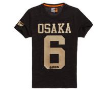 Perforiertes Osaka T-Shirt mit Prägung dunkelgrau