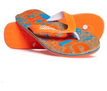 Bedruckte Kork-Flipflops orange