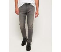 Schmal geschnittene Premium Tyler Jeans grau