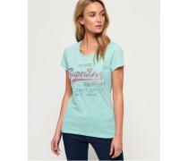 Shirt Shop Infill T-Shirt mit Prägung grün