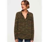 Roxanne Hemd im Militär-Stil grün