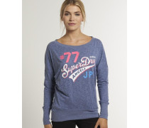 Burnout T-Shirt blau