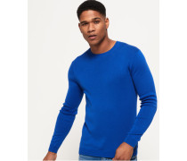 Rundhals-Sweatshirt aus Supima Baumwolle blau