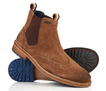 Brad Brogue Chelsea Boots braun