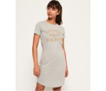 Schmal geschnittenes T-Shirt-Kleid mit Verzierungen