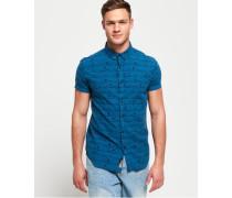 Shoreditch Hemd mit Button-down-Kragen blau