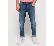 Schmal geschnittene Tyler Flex Jeans blau