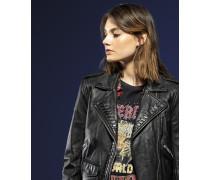 Kiki Bikerjacke aus Leder schwarz