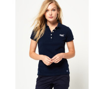 Polohemd aus Pikee marineblau