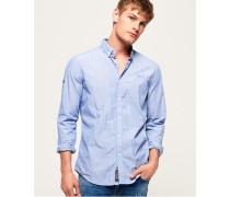 Premium Button-down-Hemd blau