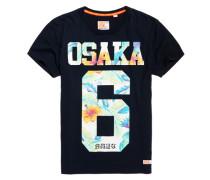 Osaka Hibiscus T-Shirt marineblau
