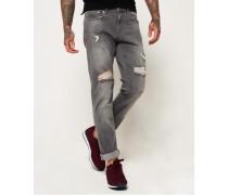 Slim Jeans hellgrau