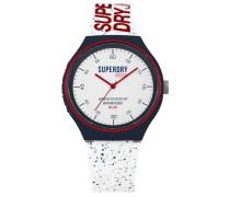 Urban Fleck Armbanduhr weiß