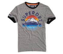76 Ringer T-Shirt hellgrau