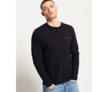 Dry Originals Langarm-T-Shirt mit Tasche schwarz