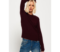 Croyde Pullover mit Zopfmuster rot
