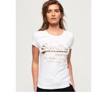 Shirt Shop Infill T-Shirt mit Prägung weiß