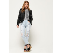 Riley Girlfriend-Jeans blau