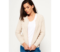 Evie Cable Knit Bomberjacke creme