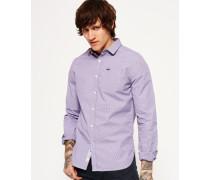 Hemd mit angeschnittenem Kragen lila