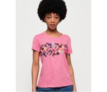 Lexi T-Shirt mit Stickerei pink